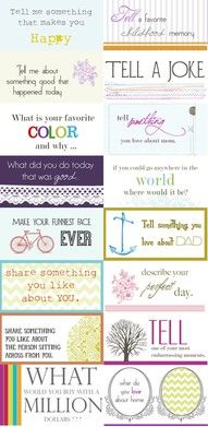 Conversation starters for activity days. Conversation Starters, Conversation Pieces, Conversation Ideas, Kid Picks, Family Night, Family Meeting, Girls Camp, Activity Days, School Counseling