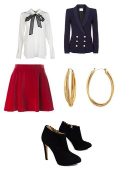 """""""Dinner with the in-laws."""" by itsmestylishluckycharm on Polyvore featuring Love Moschino, STELLA McCARTNEY, Giuseppe Zanotti, Pierre Balmain and Diane Von Furstenberg"""