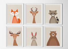Set de 6 Cuadros Animales del Bosque