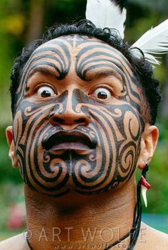 Connections: Maori George Hare, Polynesian Cultural Center, Laie, Hawaii by Art Wolfe #ExpediaWanderlust