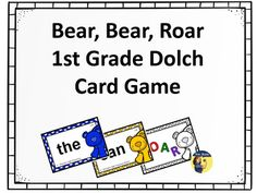Practicing sight words is so tedious! I created card games to help my students look forward to practicing their words. This is a great game to keep on hand for practice, filler activities, IEP goal practice, and a rainy day activity. It includes all of the 1st grade Dolch sight words in isolation and all of the words used in the context of short phrases and sentences.You get:*directions for play*8 pages of assorted cards (one page of roar and honey cards, seven pages of words and phrases).
