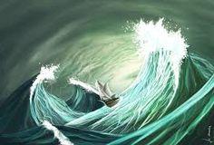 Bildresultat för stormy sea ocean illustration