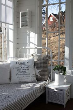 scandinavian style sunroom / sunporch