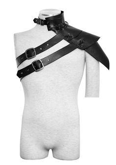 Armure d'epaule medieval imitation cuir noir Punk Rave > JAPAN ATTITUDE - PUNKR0077 Shop : www.japanattitude.fr