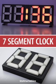 This 7 segment clock has the LED strip inside the modules. #Instructables #electronics #technology #3Dprint #Arduino