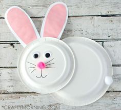 Make a paper plate bunny rabbit for an Easter craft! This version is cute because it shows the rabbit's body instead of just the face. Pull out your extra paper plates and start crafting with your kids :-) Supplies: 1 pink, 1 white pom pom 1 piece of white cardstock 1 piece of pink paper …
