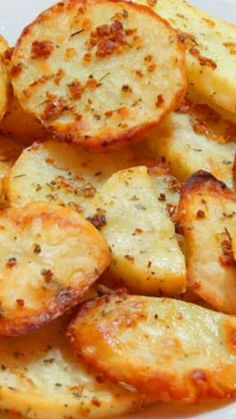 Baked Garlic Potato Slices Recipe