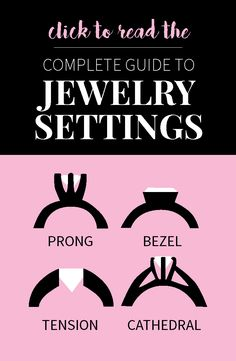 A complete guide to jewelry settings | Pros & Cons of Different Engagement Ring Styles http://www.moissanite.com/blog/jewelry-settings/