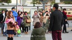 大号泣!! サプライズ プロポーズ フラッシュモブ 道案内から続々増えていくダンサー@桜木町 AI ハピネス