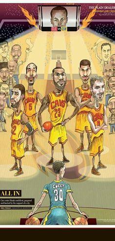 NBA playoffs finals 2016 Cleveland Cavaliers newspaper 6/1/2016 lebron curry  #ClevelandCavaliers