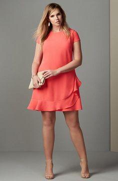 awesome Plus Size Ruffle Hem Dress... by http://www.polyvorebydana.us/curvy-girl-fashion/plus-size-ruffle-hem-dress/