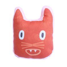 Kissen als Katze // cat pillow by Anny Who via DaWanda.com