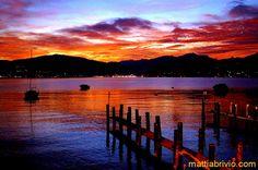 Luino at sunset