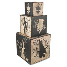 Check out this item at One Kings Lane! Asst. of 3 Haunted Nesting Blocks