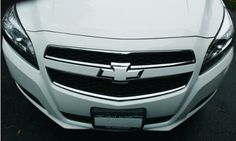 Bowtie Emblem Overlay Decals | Front and Rear - 2013-2015 Chevrolet Malibu - (Color: Gloss Black). For product info go to:  https://www.caraccessoriesonlinemarket.com/bowtie-emblem-overlay-decals-front-and-rear-2013-2015-chevrolet-malibu-color-gloss-black/