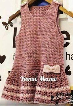 Patrón #1830: Vestido niña a Crochet #crochet  http://blgs.co/8qK6xk