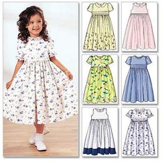 Items similar to Little Girls' Sunday Dress Pattern, Girls' Special Occasion Dress Pattern, Classic Dress Pattern, Butterick Sewing Pattern 3762 on Etsy Little Girl Dress Patterns, Dress Sewing Patterns, Little Girl Dresses, Girls Dresses, Coat Patterns, Blouse Patterns, Children's Dress Patterns, Pattern Sewing, Sewing Ideas
