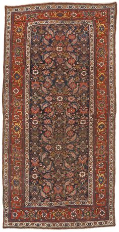 Antique Persian Bijar Gallery Rug - 4′6″ × 8′11″
