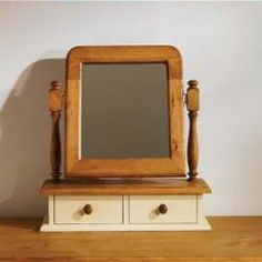 Mottisfont Painted Dressing Table Mirror with drawers, arched is one of the most desirable and reliable furniture to keep your room a natural looks. More details: http://solidwoodfurniture.co/product-details-pine-furnitures-3384-mottisfont-painted-dressing-table-mirror-with-drawers-arched.html