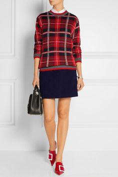 Carven | Bouclé mini skirt | NET-A-PORTER.COM