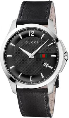 gucci watches for men | Gucci Mens Black Strap Black Dial Watch in for Men (black) - Lyst