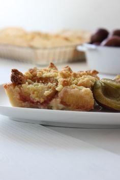 Friesischer Pflaumenkuchen mit Streuseln