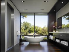 Relaxing Contemporary Bathroom by Jessica Lagrange