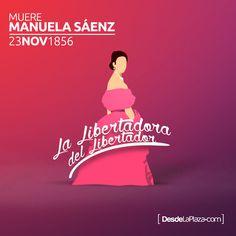 Hace 160 años Manuela Saenz partió al encuentro de su gran amor