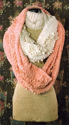 """PLUSH INFINITY SCARF  $29.95 each 9x64"""" 