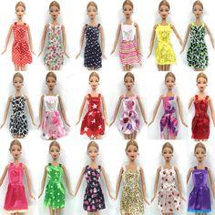 NK Caliente Venta 16 Elemento/Set = 10 Unids Mezcla Tipo Hermosa Fiesta ropa vestido de la manera 6 collar de plástico para barbie doll mejor regalo toys