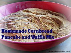 Chef Tess Bakeresse: Hearty and filling Cornbread Waffle and Pancake Mix