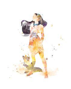Pocahontas Print Princess Poster Watercolor Art Print #pocahontas #disney #artprint #nursery #nurserywallart