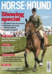 25 July 2013 issue. Find out what's inside http://www.horseandhound.co.uk/news/dont-miss-this-weeks-horse-hound-6/