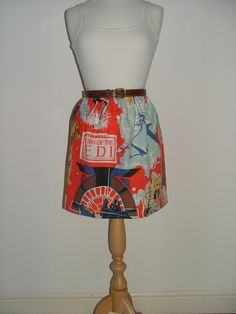 Handmade high waisted skirt made with vintage starwars fabric. $27.00, via Etsy.