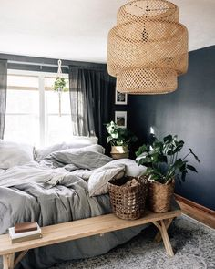 Wayfair lets you find the designer products in the photo and get ideas from thousands of other Eclectic Bedroom Design photos. Get inspired by Eclectic Bedroom Design photo by French Bedroom Decor, Bohemian Bedroom Design, Rustic Bedroom Furniture, Bedroom Decor For Couples, Diy Home Decor Bedroom, Small Room Bedroom, Small Rooms, Master Bedrooms, Gothic Bedroom