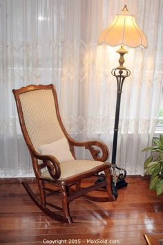 MaxSold   Auction: Powder Springs Downsizing Online Auction   Lincoln Rocking  Chair Circa 1918 And