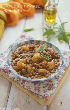 LENTICCHIE IN UMIDO CON PATATE  http://blog.giallozafferano.it/lapasticceramatta/lenticchie-umido-patate/