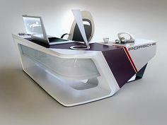 Futuristic modern desk . More information via : Linked In , marcel verbeeck ( marcelvb4@yahoo.be )