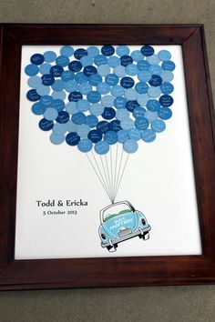 Wedding Guest Book Just Married Car Balloons by SayAnythingDesign, $64.00. What a cute alternative guestbook. Would be a great Bridal Shower gift.
