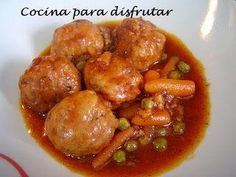 Meat Recipes, Mexican Food Recipes, Salad Recipes, Cooking Recipes, Healthy Recipes, Ethnic Recipes, Spanish Recipes, Spanish Dishes, Albondigas