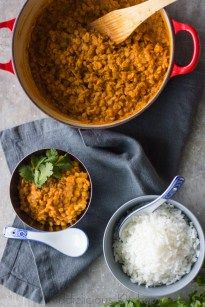 Easy red lentil curry for the whole family
