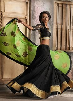 Beautiful Georgette Lehenga Saree