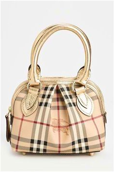 Burberry Check Pleated Dome Minibag