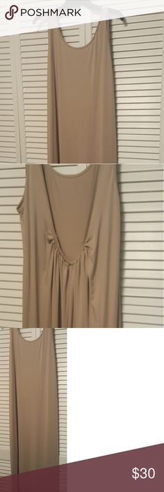 Long dress Long dress can be used as many things,night gown,dress,cover up.Open back with gathered material.Nylon. New with tag. zanzea Dresses Maxi