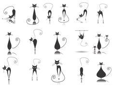 Imagini pentru cat silhouette tattoo designs