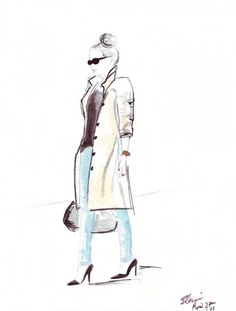 Watercolour Fashion illustration Titled The by FallintoLondon
