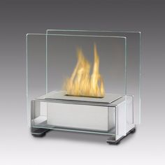 Eco-Feu Paris Table Top Ethanol Fireplace - Stainless Steel (TT-00136-SS)