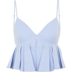 Alexander Wang Pleated Crop Top from Harrods. Shop more products from Harrods on Wanelo. Crop Top Shirts, Crop Shirt, Crop Tank, Tank Tops, Trendy Outfits, Cute Outfits, Fashion Outfits, Look Star, Blue Crop Tops