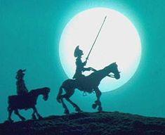 Don Quijote y Sancho Panza a la luz de la luna