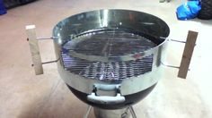 """Build a Kettle Pizza Clone for less than $20. All you need is a roll of steel flashing, 8""""x25', four 6"""" lag or carriage bolts, and two 3"""" hex bolts. Scrap wood for handles and a tin snips or plasma cutter."""